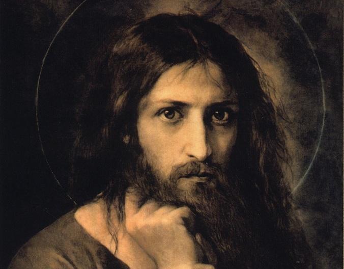 Jesus looks