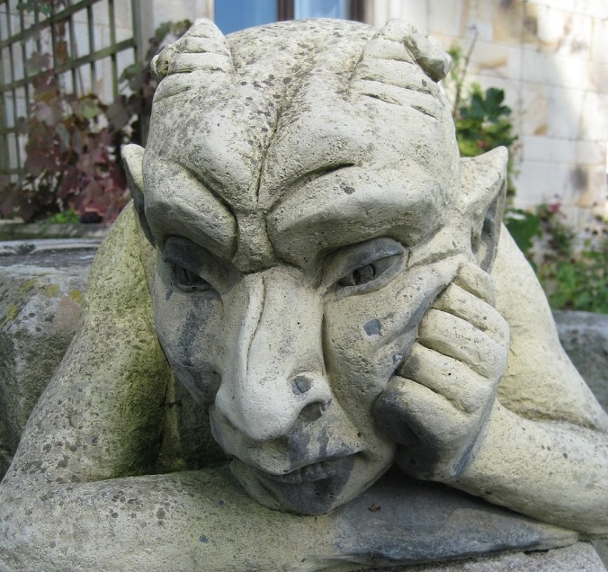 Devil sad
