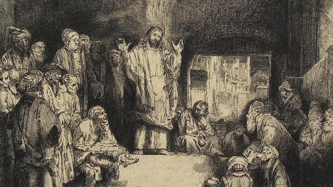 Jesus Preaching Inside